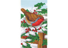 Robin Friends Part 1, 40x22cm Tryptich Crystal Art