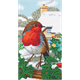 Robin Friends Part 2, 40x22cm Tryptich Crystal Art