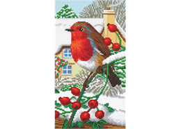 Robin Friends Part 3, 40x22cm Tryptich Crystal Art
