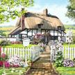 Rose Cottage, 40x50cm Crystal Art Kit | Bild 4