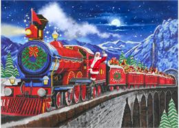 Santa Express, 90x65cm Crystal Art Kit
