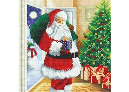 Santa's Here! 30x30cm Crystal Art Kit