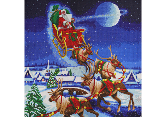 Santa's Journey, 70x70cm Crystal Art Kit