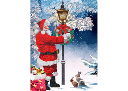 Santa's Walk, 21x29cm Giant Crystal Art Card
