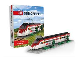 SBB Zug aus Minibausteinen, Schwierigkeitsgrad Level 3, 413 Stck.