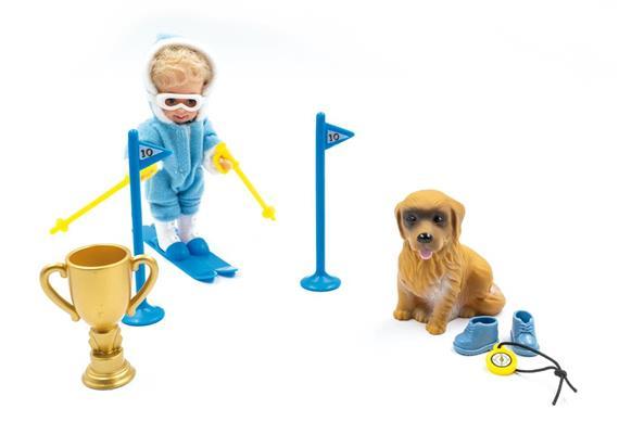 Schischulkind Chiara m.Schi+Hund