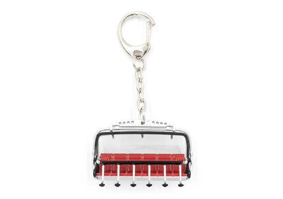 Schlüsselanhänger 6er Sessel rot / Bubble grau