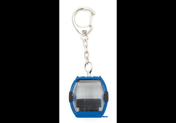 Schlüsselanhänger Arosa, Metall blau