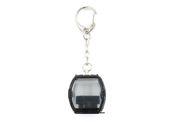 Schlüsselanhänger Omega IV Metall schwarz