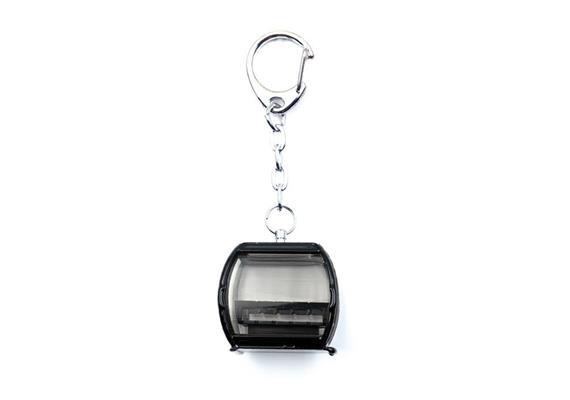 Schlüsselanhänger Omega V schwarz