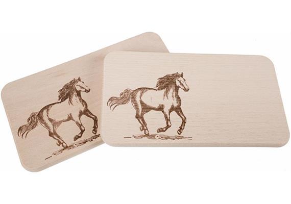 Schneidebrett aus Buche 22x12 cm - Pferd