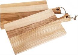 Schneidebrett mit Griff und Kordel, Kern Esche 40 x 20 x 2 cm Holzoberfläche geölt
