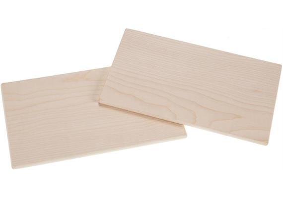 Schneidebrett rechteckig aus Ahorn Holz 26x15x1cm ohne Oberflächenbehandlung