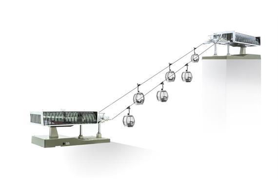Seilbahn H0 D-Line Set weiss/grau 6 Omega V+1 Stü.
