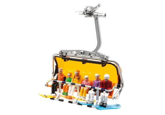 Set mit 6 Figuren sitzend mit HEAD Snowboards