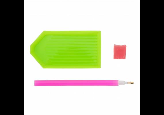 Set of 3 Crystal Art Tools (Tray,Pen & Jelly)