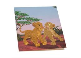 Simba and Nala, 18x18cm Crystal Art Card