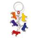 SLA 5 farbige Kühe, rot, blau. gelb, violett, orange, 7.5 x 2.3 cm