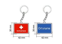 """SLA Basismodell, """"Switzerland"""" + Ortstafel, 42 x 30 mm. Bitte gewünschte Stadt angeben !"""
