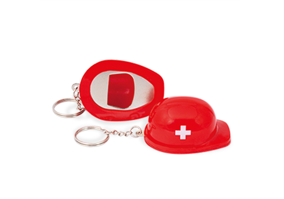 SLA Helm rot mit Flaschenöffner Funktion, 6 x 4.6 cm