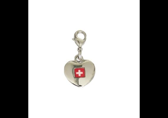 SLA Herzanhänger Switzerland, silber