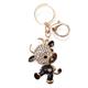 SLA Kuh mit Strass, schwarzer Hose, Metall gold, 6.5 x 5 cm