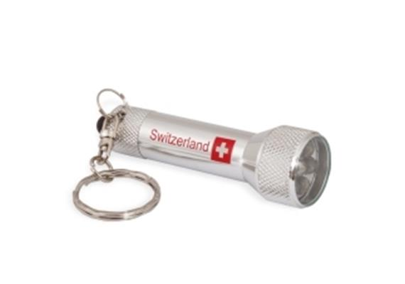 SLA LED Taschenlampe in silber, 6.5 cm x 2 cm