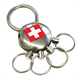 SLA Metall, CH, 4 Ringe zum Ausklicken, 4.4 x 2.5 cm
