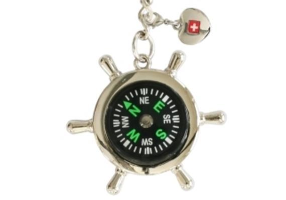 SLA Ruder mit Kompass mit Herzanhänger CH, Ø 4.8 cm