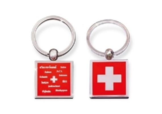 SLA Schweizer Kreuz, matt silber, 32 mm