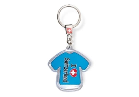 "SLA T-Shirt ""I love Switzerland"" mit LED, blau, 5.5 x 5 cm"