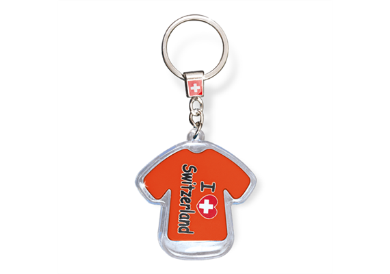 "SLA T-Shirt ""I love Switzerland"" mit LED, orange, 5.5 x 5 cm"