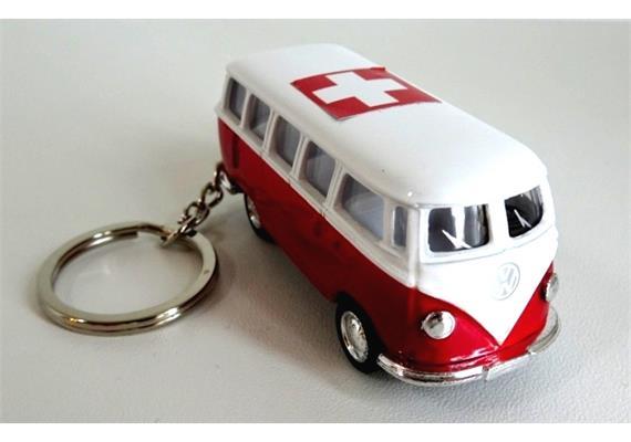 SLA VW Bus rot, mit CH-Kreuz