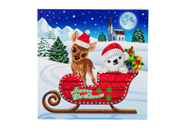 Sled Characters, 18x18cm Crystal Art Card