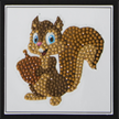 Smiling Squirrel, 9x9cm Crystal Art Motif | Bild 2
