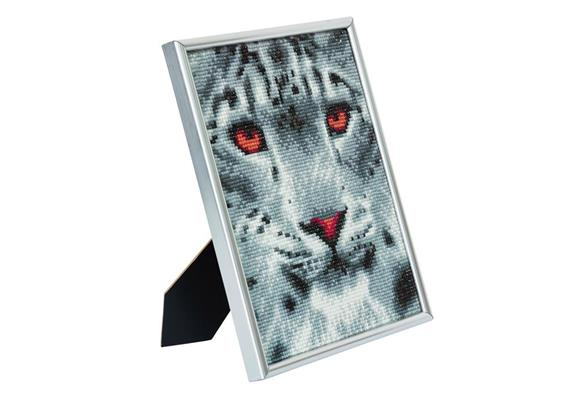 Snow Leopard, 21x25cm Picture Frame Crystal Art
