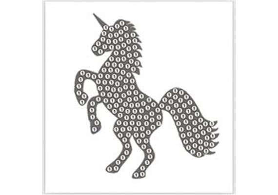 Solange Vorrat! Unicorn, 9x9cm Crystal Art Motif