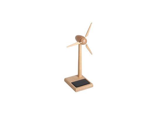 Solar Windgenerator Holz FSC, 15 cm