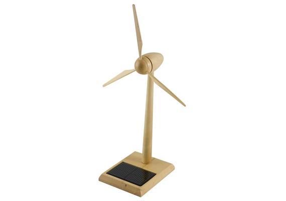 Solar Windgenerator Holz FSC, 30 cm