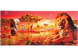 Sonnenuntergang bei der Safari, 40x90cm Crystal Art Kit