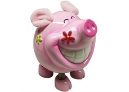 Sparschwein mit Springfüssen H14.5cm