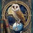 Spell Keeper Owl, 21x29cm Giant Crystal Art Card | Bild 4