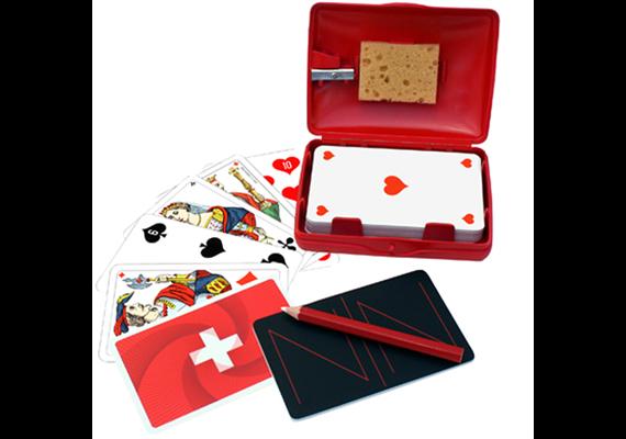 Spielkartenbox Hopp Schwiiz mit Spitzer, Piquet