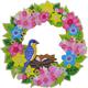 Spring 30cm Crystal Art Wreath