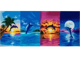 Tag des Delfins, 40x90cm Crystal Art Kit