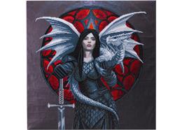 Tapferkeit: Anne Stokes, 70x70cm Crystal Art Kit