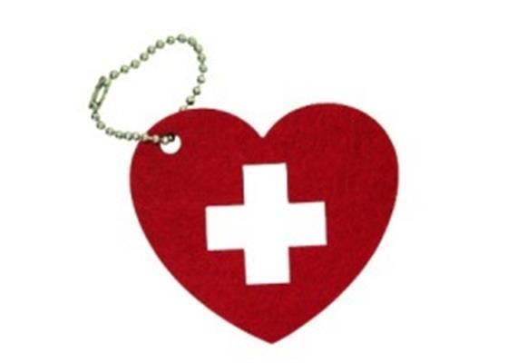 Taschenenanhänger in Herzform, 7 x 6.2 cm