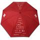 Taschenschirm Schweiz rot, Rand reflektierend, öffnet automatisch