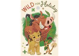 The Festive Lion King, 10x15cm Crystal Art Card