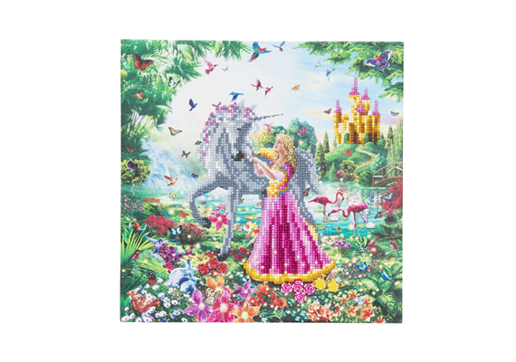 The Princess & The Unicorn, 30x30cm Crystal Art Kit